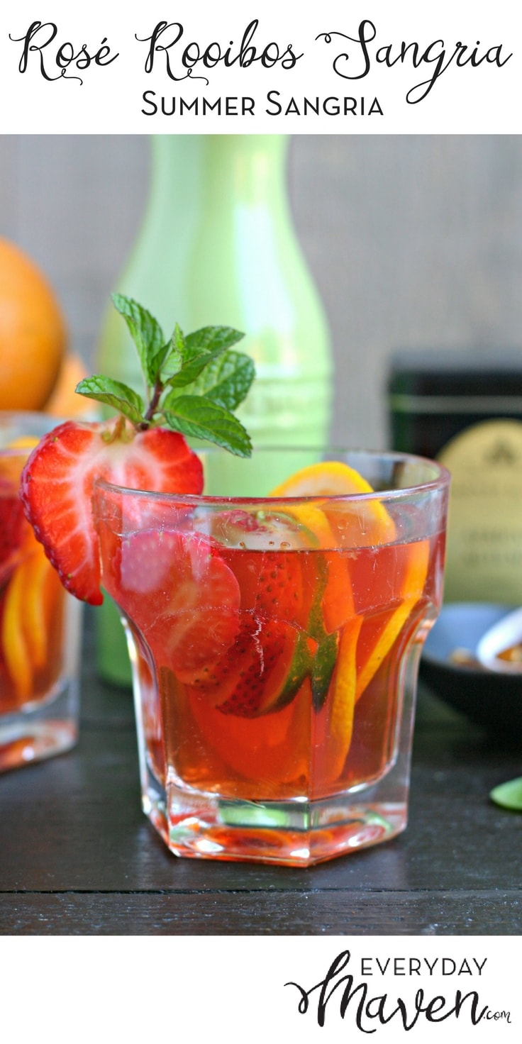 This refreshing and light Rosé Rooibos Summer Sangria combines Rosé with African Autumn Rooibos Tea for a flavor infused sangria everyone will love!