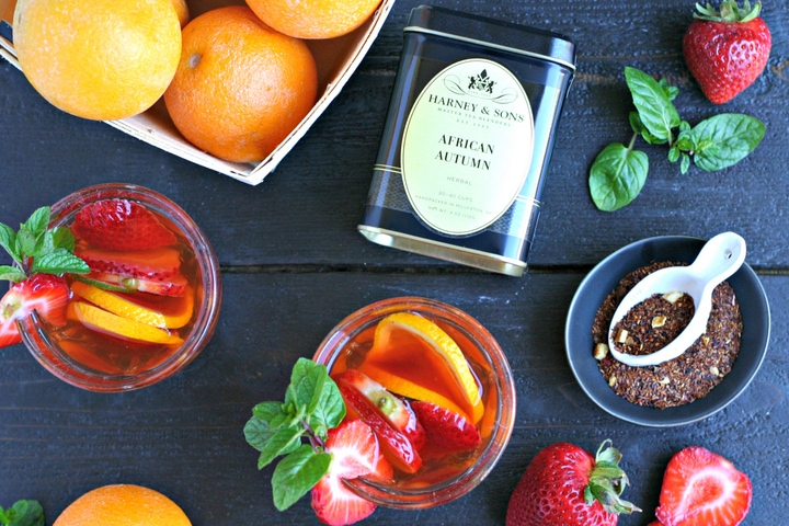 Rosé Rooibos Summer Sangria from www.EverydayMaven.com