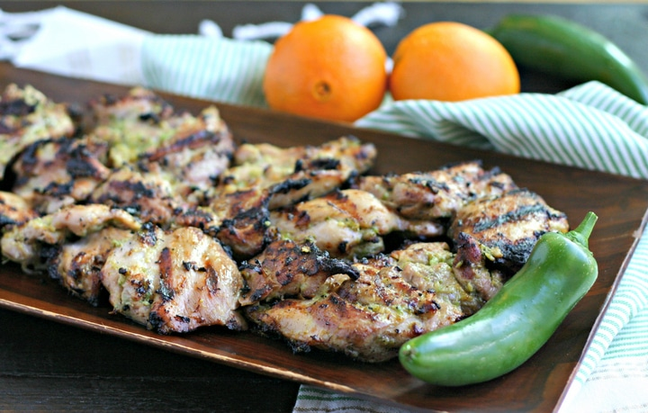 Spicy Asian Grilled Chicken Marinade from www.EverydayMaven.com