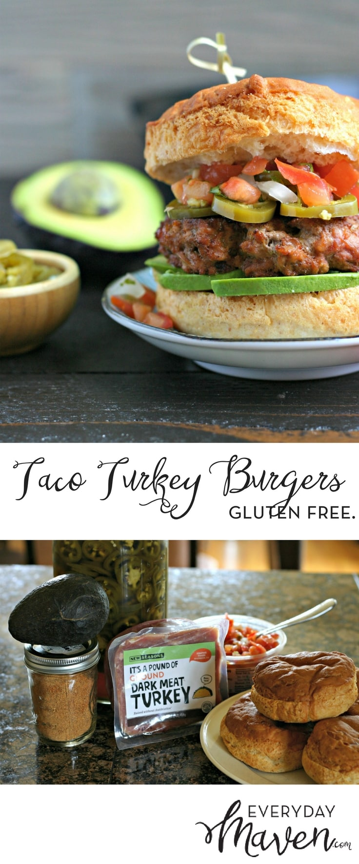Grilled Taco Turkey Burgers are a fun family meal that everyone loves. On the table in under 20 minutes and made with just a handful of ingredients!