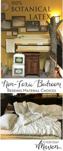 Non-Toxic Bedroom Series: Bedding Material Choices from www.EverydayMaven.com