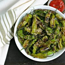 Sesame Blistered Shisito Peppers