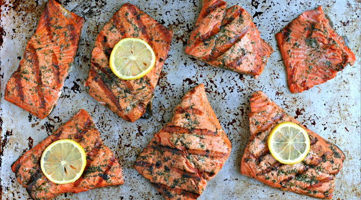 Old Bay Grilled Salmon