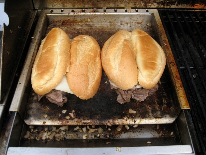 Cooking Philly Cheesesteaks from www.EverydayMaven.com