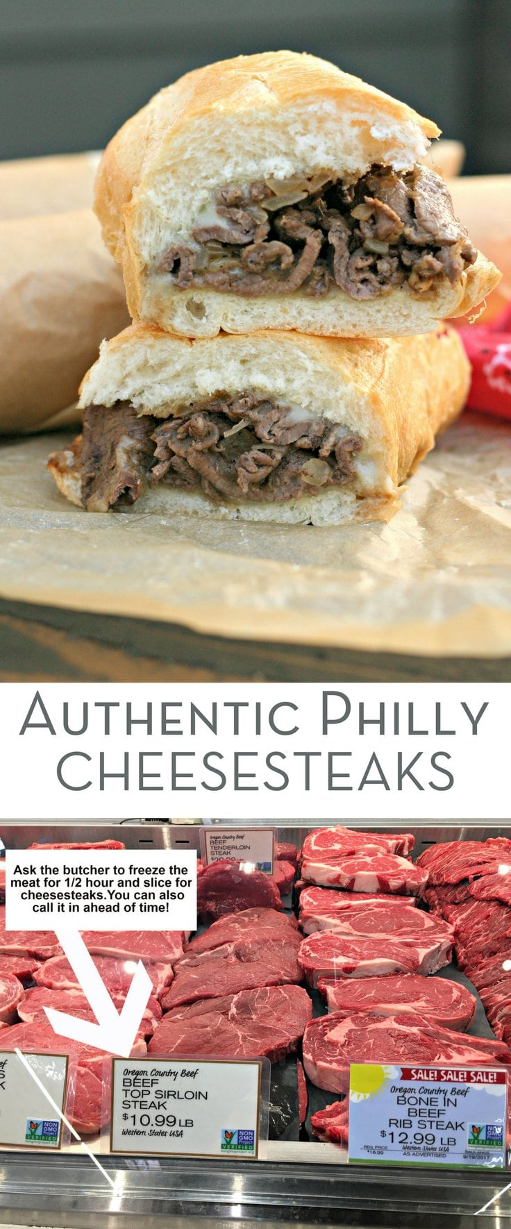 Authentic Philly Cheesesteaks! How To Make a Homemade Philly Cheesesteak with a Gluten Free option and details on every step and ingredient!