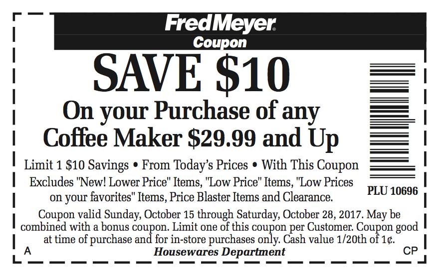 Fred Meyer Coffee Maker Sale from www.EverydayMaven.com
