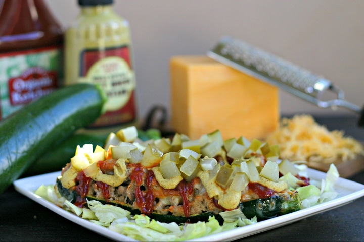 Low Carb Cheeseburger Stuffed Squash from www.EverydayMaven.com