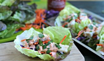 Weeknight Fish Tacos with Spicy Tahini Sauce
