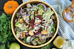 Thanksgiving Salad Dressing with Fresh Herbs and Sherry Vinegar with Olive Oils from Spain