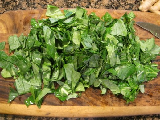 Chopping Collard Greens from www.EverydayMaven.com