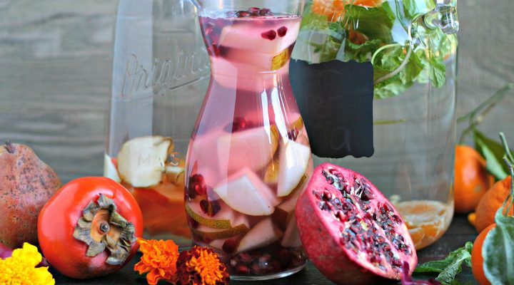 Winter Infused Water Ideas + a giveaway!