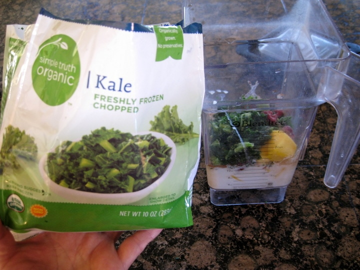 Frozen Kale for Smoothies from www.EverydayMaven.com