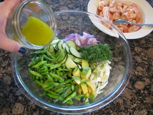 Poached Shrimp Salad with Avocado from www.EverydayMaven.com