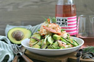 Poached Shrimp Avocado Salad