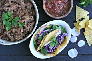 EASY Pressure Cooker Pulled Pork Tacos