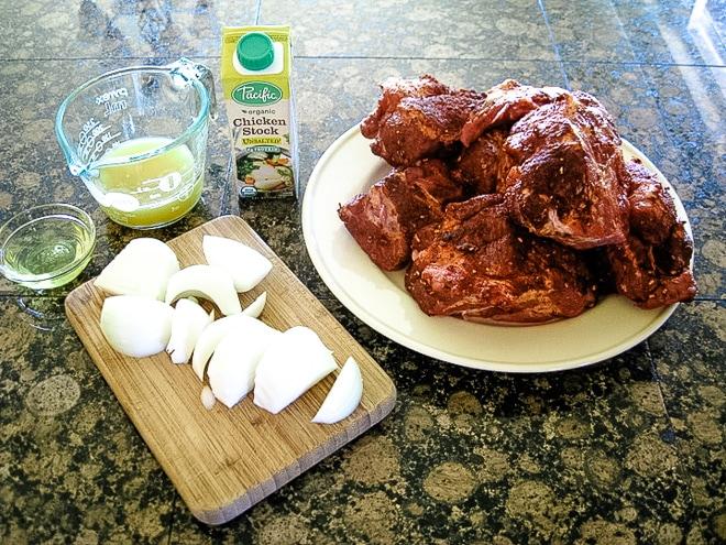 ingredients to make pressure cooker pulled pork recipe