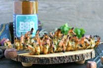 Brown Sugar Bourbon Shrimp Skewers