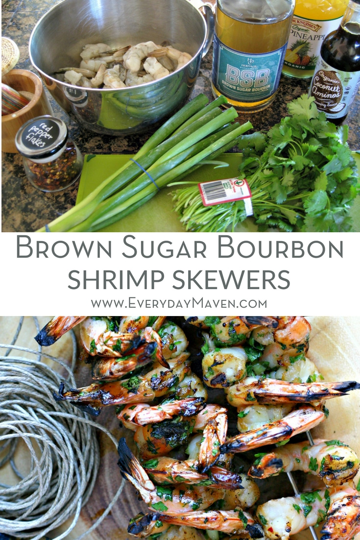 Use Brown Sugar Bourbon to make the most delicious Shrimp Skewers! Add just a hint of pineapple juice and herbs and watch these disappear!