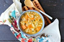 Roasted Vegetable Soup with Cabbage
