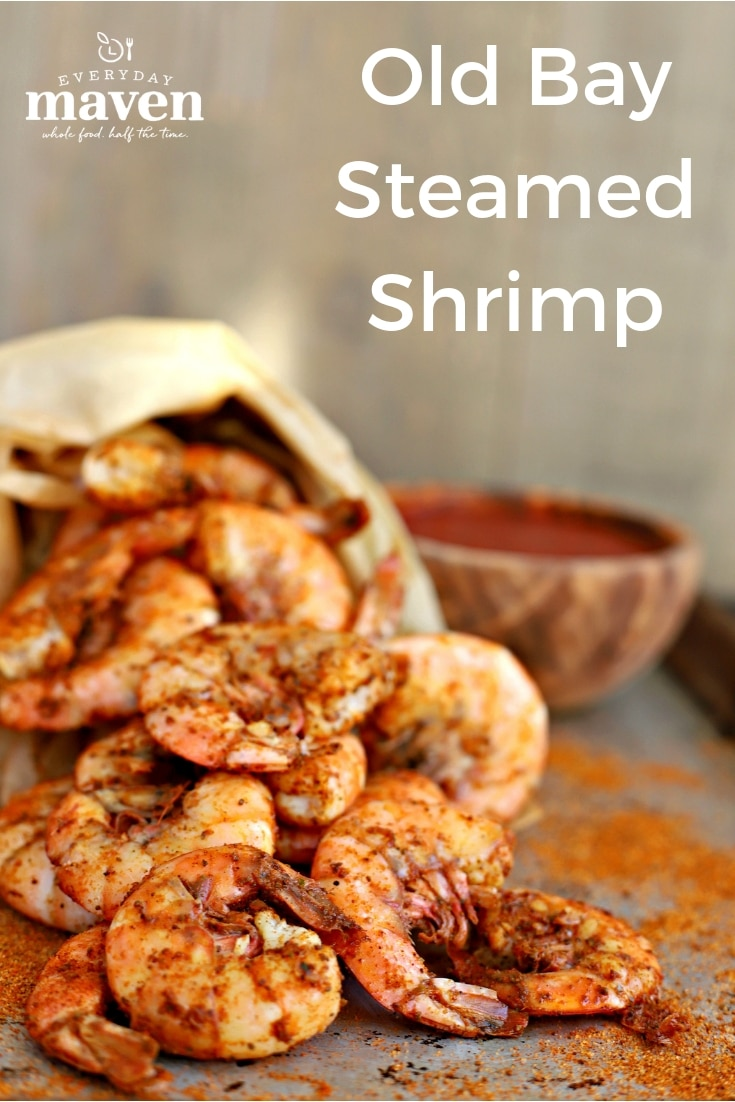 Make this classic Old Bay Shrimp in advance and chill. Serve with cocktail sauce or butter and watch these Boiled Old Bay Shrimp dissapear!  #oldbay #oldbayshrimp #shrimpappetizer