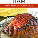 smoked ham on a serving platter