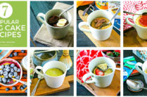 collage of 7 mug cake recipes