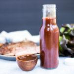 glass jar of homemade steak sauce