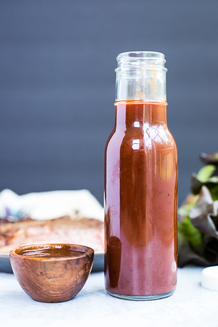 large bottle of copycat A1 steak sauce