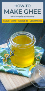 close up of warm homemade ghee in a glass jar