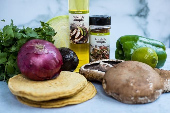 ingredients to make vegan tacos