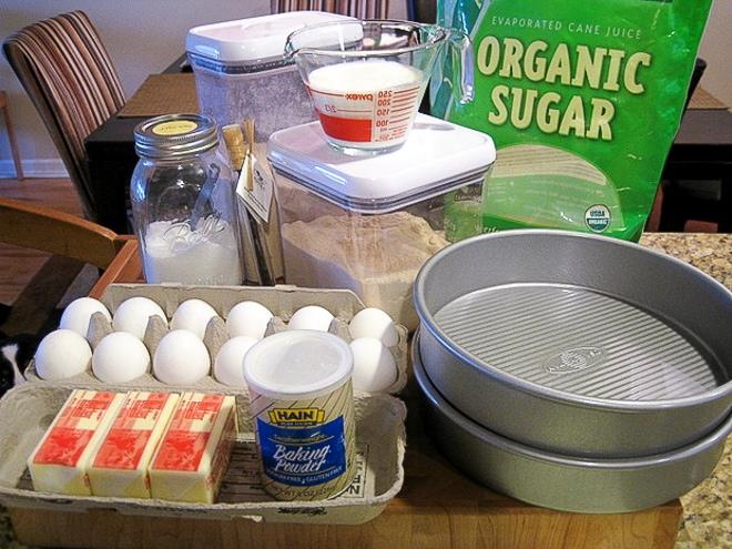 ingredients to make gluten free cake