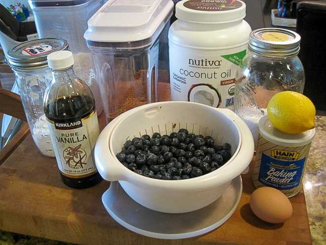 ingredients to make gluten free blueberry scones
