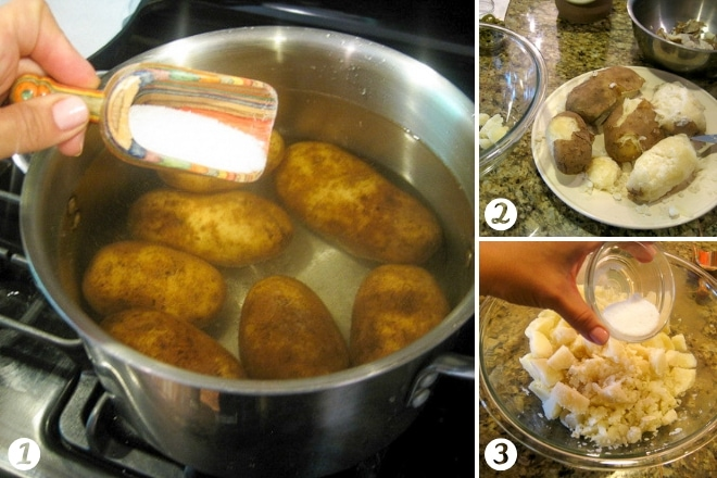 cooking potatoes for potato salad recipe