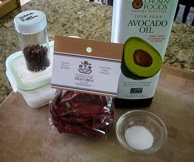 ingredients to make homemade chili oil