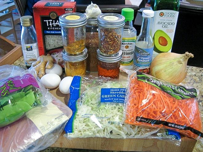 ingredients to make singapore rice noodles