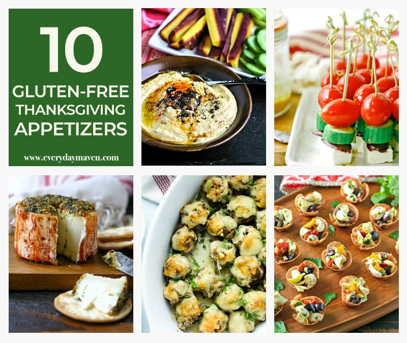 collage of gluten-free appetizers