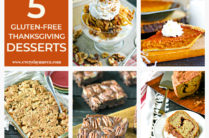 collage of gluten free thanksgiving dessert ideas