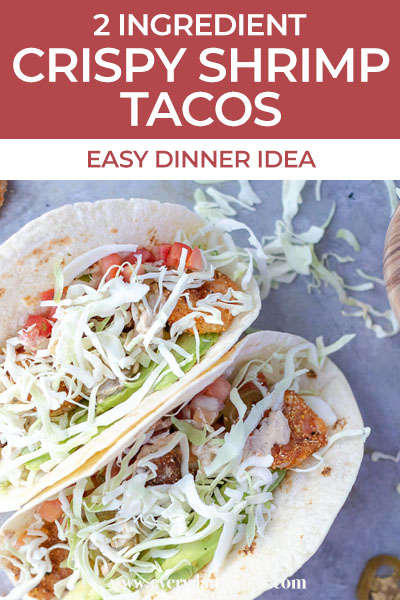 pinterest image with tacos and text above it
