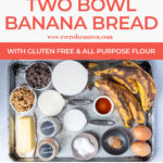 collage of banana bread images with text for pinterest