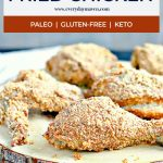 crispy oven fried chicken with text for pinterest