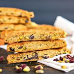 stacks of biscotti with dried fruit and nuts