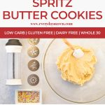 collage of steps to make butter cookies with text for pinterest